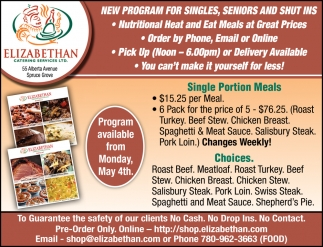 Single Portion Meals