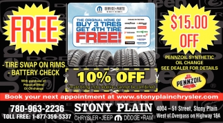 Buy 3 Tires Get 4th Tire Free!