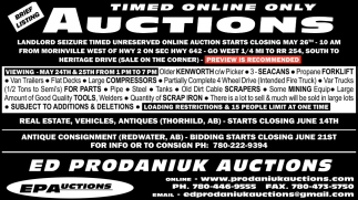 Timed Online Only Auctions