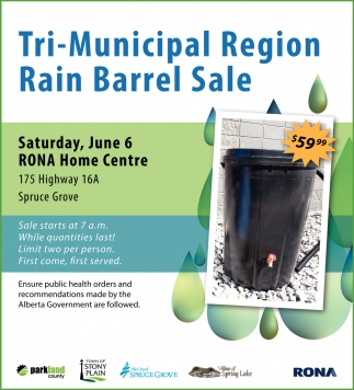Tri-Municipal Region Rain Barrel Sale