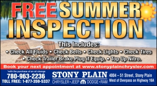 Free Summer Inspection