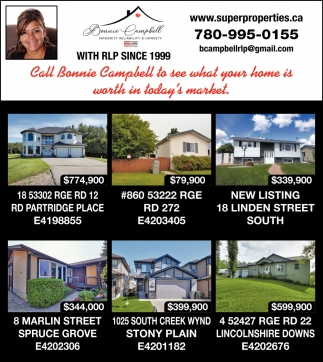 Call Bonnie Campbell To See What Your Home Is Worth In Today's Market