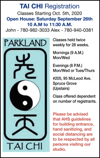Tai Chi Registration
