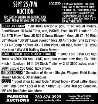 Sep. 25/PM Auction