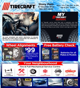 Wheel Alignments - Free Battery Check
