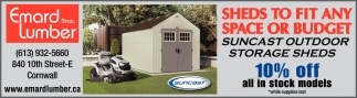 Sheds to Fit Any or Budget