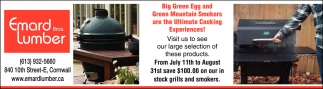 Big Green Egg and Green Mountain Smokers are the Ultimate Cooking Experiences!