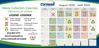 Waste Collection Callendar
