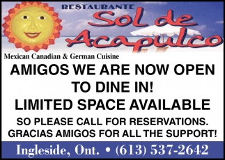 Amigos We are Now Open to Dine In!