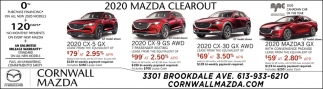 2020 Mazda Clearout