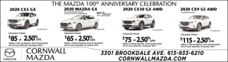 The Mazda 100th Anniversary Celebration