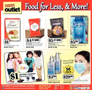 Food For Less, & More!