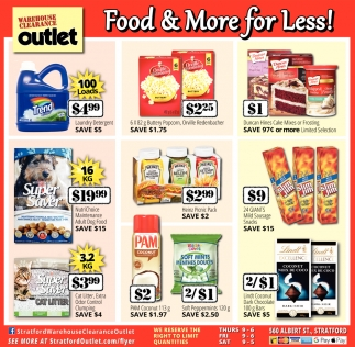 Food & More For Less!