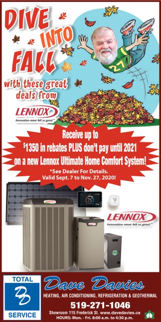 Dive Into Fall With These Great Deals From Lennox