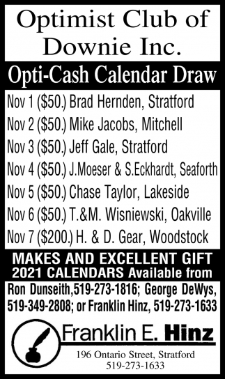Optimist Club Of Downie Inc