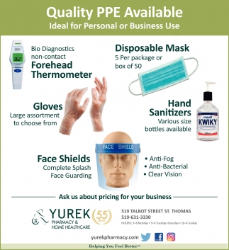 Quality PPE Available