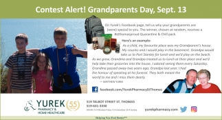 Contest Alert! Grandparents Day, Sept. 13
