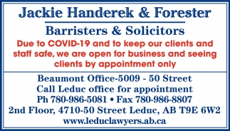 Call Leduc Office For Appointment