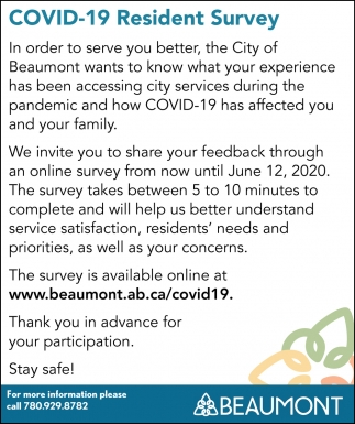 COVID-19 Resident Survey