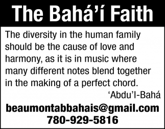 The Diversity In The Human Family Should Be The Cause Of Love And Harmony, As It Is In Music Where Many Different Notes Blend Together In The Making Of A Perfect Chord.