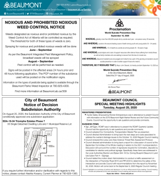 Noxious And Prohibited Noxious Weed Control Notice
