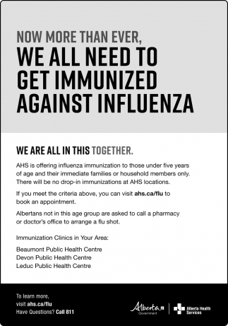 Now More Than Ever, We All Need To Get Immunized Against Influenza