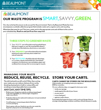 Our Waste Programs Is Smart, Savvy, Green