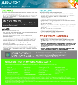 Organics - Recycling - Did You Know - Waste - Other Waste Materials