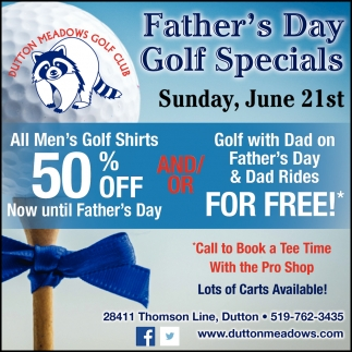 Father's Day Golf Specials