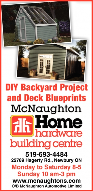 DIY Backyard Project And Deck Blueprints