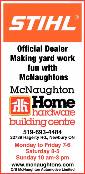 Official Dealer Making Yard Work Fun With McNaughtons