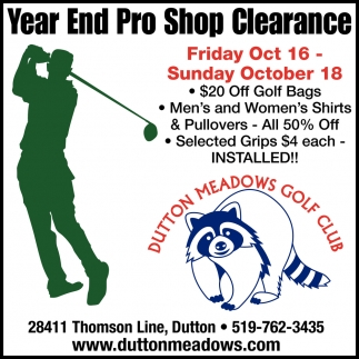 Year End Pro Shop Clearance