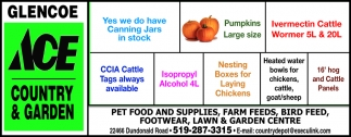 Pet Food And Supplies, Farm Feeds, Bird Feed, Footwear, Lawn & Garden Centre