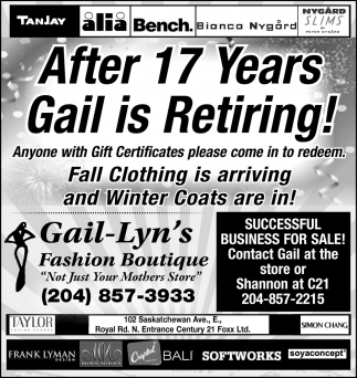 After 17 Years Gail is Retiring!