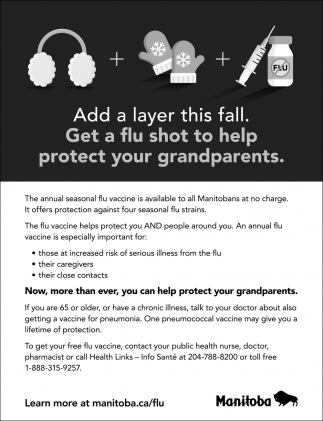 Add a Layer this Fall. Get a Flu Shot to Help Protect Your Grandparents