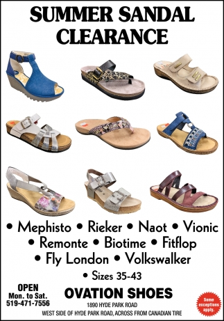 Summer Sandal Clearance
