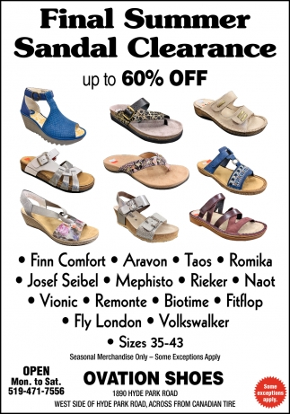 Final Summer Sandal Clearance