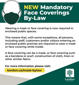 New Mandatory Face Coverings By-Law