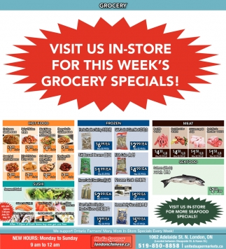 Visit Us In-Store For This Week's Grocery Specials!