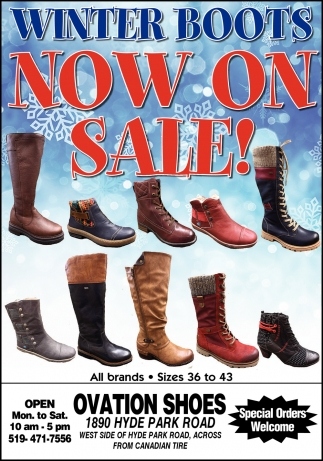 Winter Boots Now On Sale!