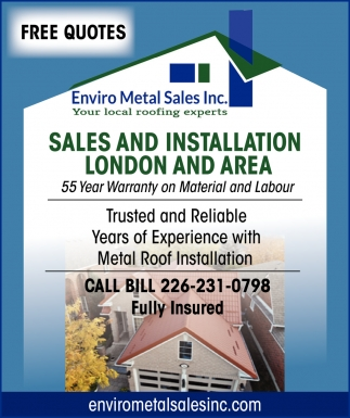 Sales And Installation London And Area