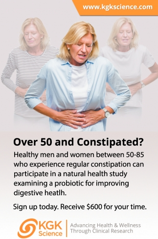 Over 50 And Constipated?