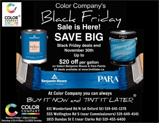 Color Company's Black Friday Sale Is Here!