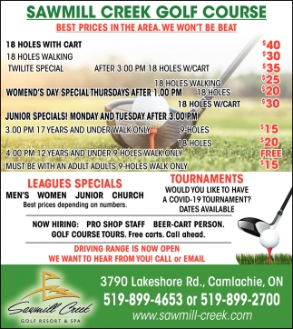 Golf Specials On Now!