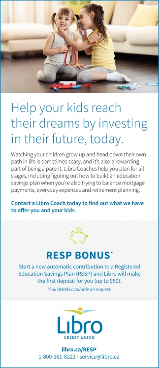 Help Your Kids Reach Their Dreams By Investing In Their Future, Today.
