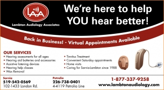 We're Here To Help YOU Hear Better!