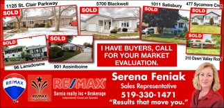 I Have Buyers, Call For Your Market Evaluation