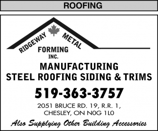 Manufacturing Steel Roofing Siding & Trims