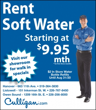 Rent Soft Water