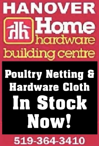 Poultry Netting & Hardware Cloth In Stock Now!